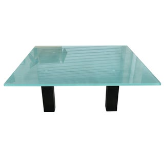 New Italian Square Glass Top Coffee Table