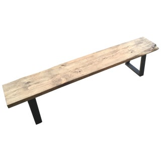 Rustic Modern Bench With Live Edge
