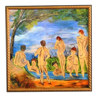 Nude Bathers Oil Painting