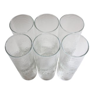 Tall Bubbled Highball Glasses - Set of 6