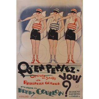 Original French Art Deco Fashion Poster