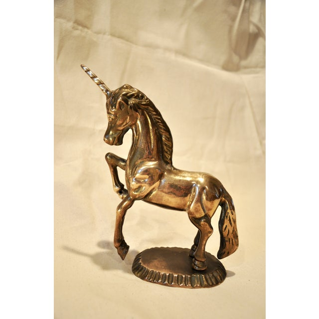 Image of Vintage 1970s Brass Unicorn