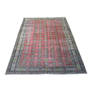Oriental Turkish Rug Erciyes Vintage Rug, 6.7 x 9.8 Feet