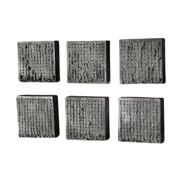 Image of Wood fired Nail Tiles (Black) by Richard Carter