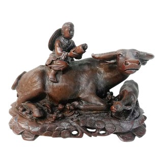Vintage Handcarved Water Buffalo Sculpture