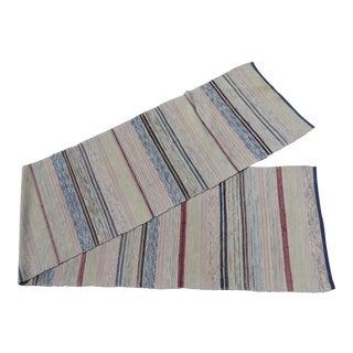 "Swedish Vintage Handwoven Rag Rug 2.25"" x 11.3"""