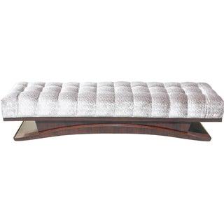 French Art Deco Macassar Ebony Bench