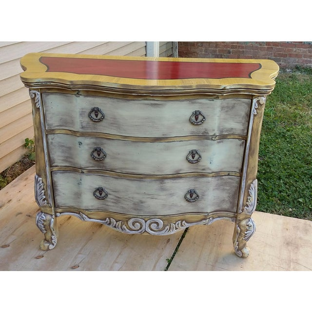 Hand Painted Harlequin French Dresser - Image 3 of 9