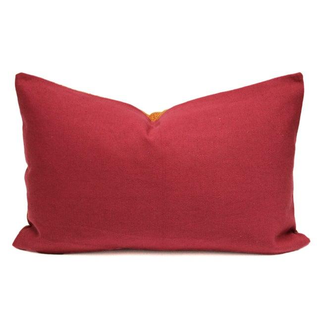 Tribal Bagh Phulkari Lumbar Pillow - Image 2 of 3