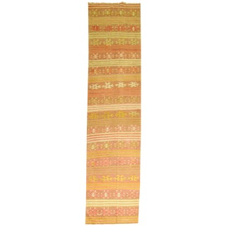 Vintage Turkish Kilim Orange Runner - 2'7'' X 11'