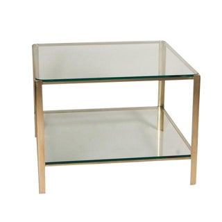 Square Two-Tier Coffee Table by Maison Malabert