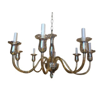 1940s Murano Glass Eight Arm Chandelier, Italy