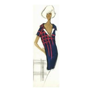 Balmain Shirt Dress Fashion Sketch