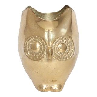 Small Brass Owl Vase