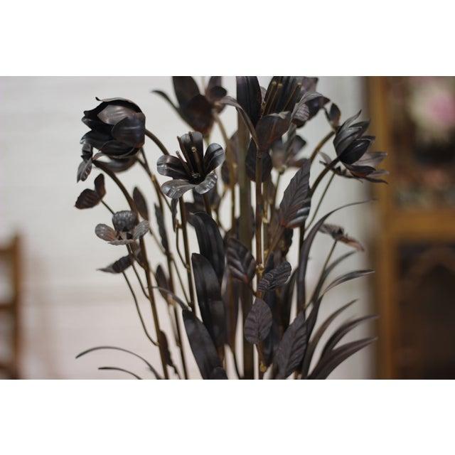 Image of Pressed Metal Floral Lamp