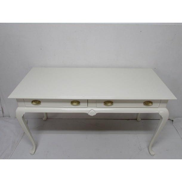 Drexel Lacquered 2-Drawer Desk - Image 7 of 7