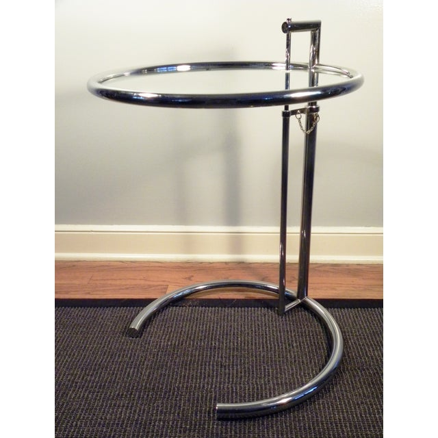 Image of Eileen Gray Vintage Stainless Steel Accent Table