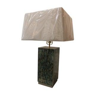 Green Reverse Paint Glass Lamp