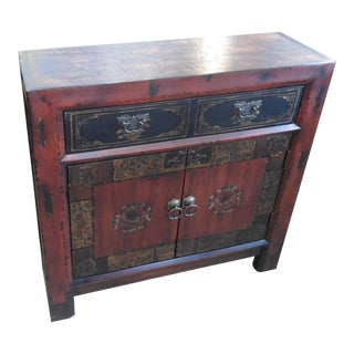 Hooker Asian Antique Handpainted Narrow Cabinet