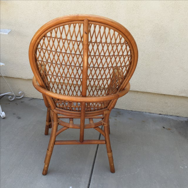 Vintage Rattan Bamboo Chair - Image 9 of 11