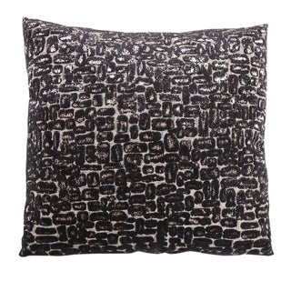 Black Sand Pave Square Pillow