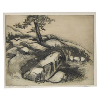 """Ledges"" Etching by Letterio Calapai"