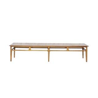 Mid-Century Modern Long Wood Coffee Table