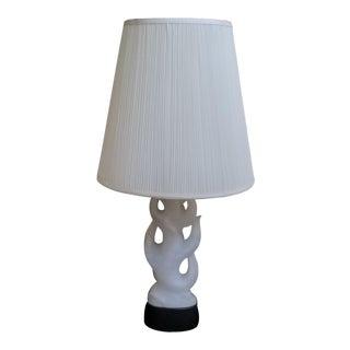 Mid-Century Modern Carved Italian Alabaster Table Lamp