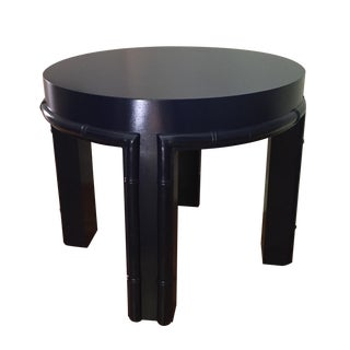 Round Faux Bamboo Side/Coffee Table