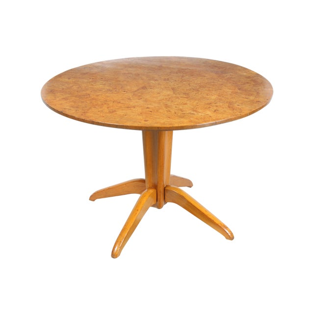 Burl Wood Tilt Top Table - Image 1 of 5