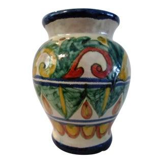 Mexican Hand-Made Talavera Pottery Vase