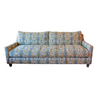 Blue & Green Upholstered Sofa