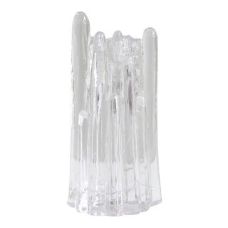 Kosta Boda Polar Glass Taper Candle Holder Goran Warff Mid Century Modern