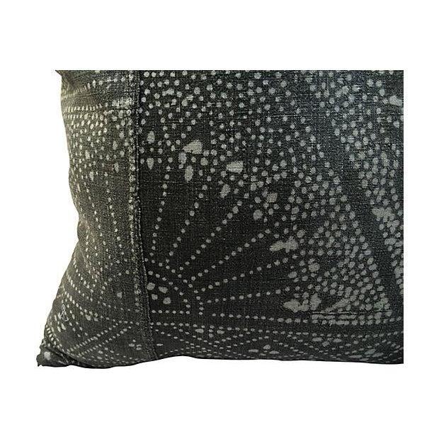 Image of Gray Batik Pillows - A Pair