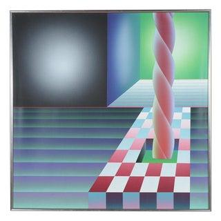 "Stefan Knapp -""Abstract Spiral "" Original Painting"