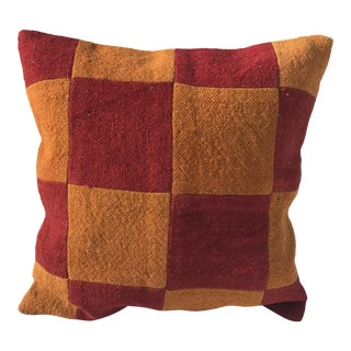 Turkish Checkered Kilim Pillow Cover