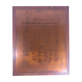 Vintage Declaration of Independence Wall Plaque
