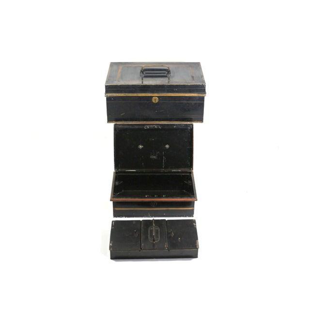 1920s English Metal Cash Boxes - Set of 3 - Image 1 of 6