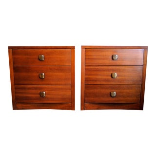 Mid-Century Art Deco 3 Drawer Chests - A Pair