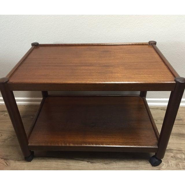 Vintage Modern Wood Bar Cart - Image 3 of 4