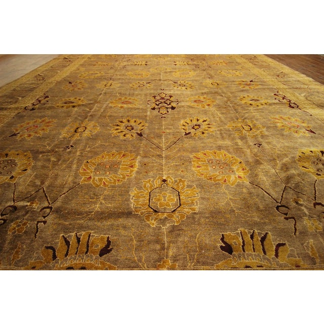 """Oushak Collection Brown Rug - 12'1"""" x 15'10"""" - Image 8 of 10"""