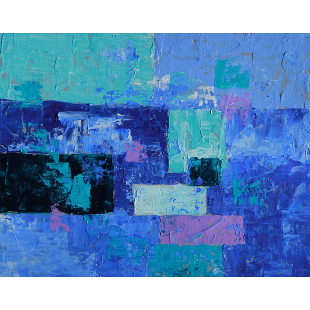 """""""Box Arrangement #7"""" Abstract Painting- C. Plowden - Image 1 of 2"""