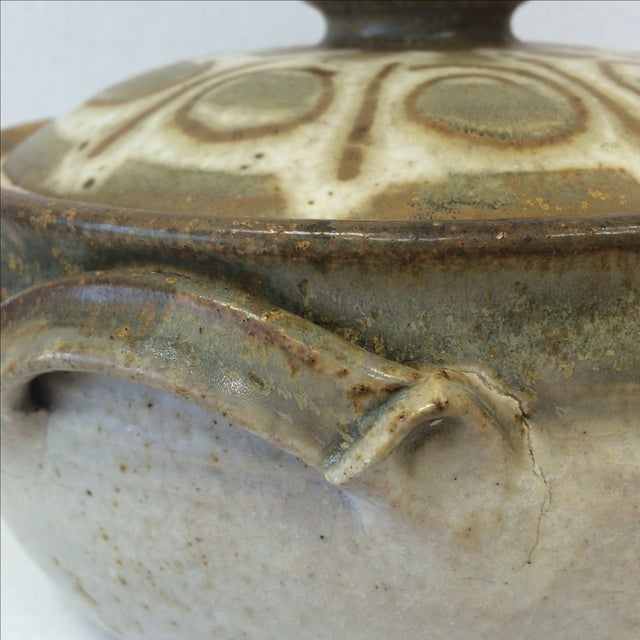 Mid-Century Studio Pottery Bowl and Lid - Image 9 of 11