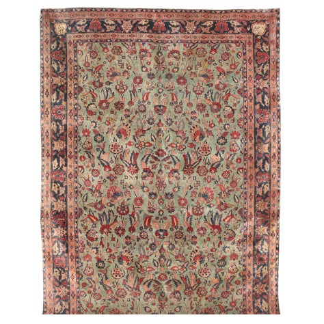 Image of Exceptional Antique Persian Kashan Carpet