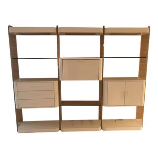 Modern White Floating Lucite Wall Unit