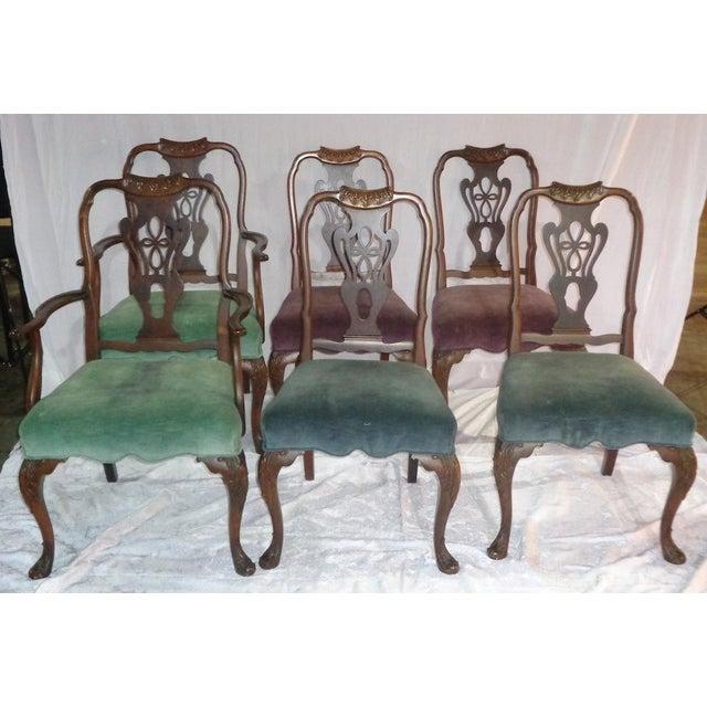 Image of Batesville Mahogany Dining Chairs- Set of 6
