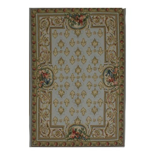 French Aubusson Design Hand Woven Wool Rug - 4' X 6'