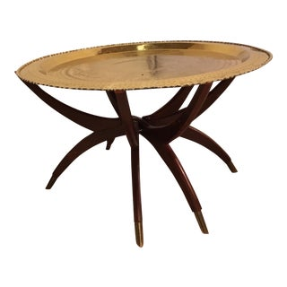 Moroccan Style Brass Table with Spider Legs