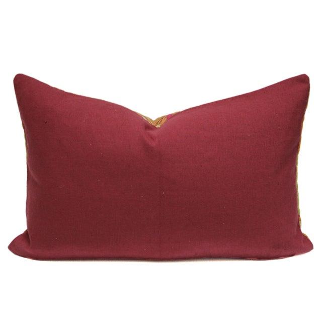 Image of Stately Bagh Phulkari Lumbar Pillow