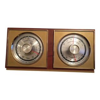 Taylor Mid-Century Barometer & Thermometer